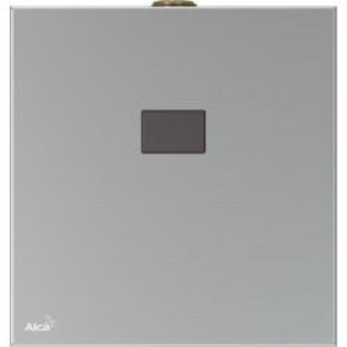 Автоматическое устройство смыва для писсуара, с инфракрасным датчиком, 12 V (сеть), нержавеющая сталь, ASP, Alca Plast
