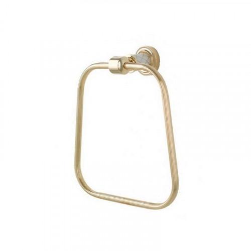 Держатель для полотенца штанга Boheme Murano золтой с белым 10902-W-G