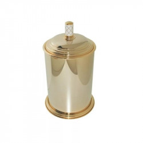 Крючок одинарный Boheme Murano золтой с белым 10906-W-G