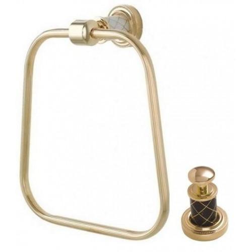 Держатель для полотенца кольцо Boheme Murano золтой щоколад 10905-CH-G
