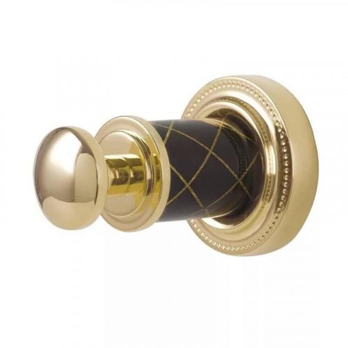 Крючок одинарный Boheme Murano золтой с черным 10906-B-G