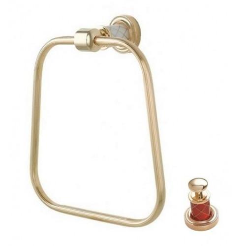 Держатель для полотенца кольцо Boheme Murano золтой рубин 10905-R-G