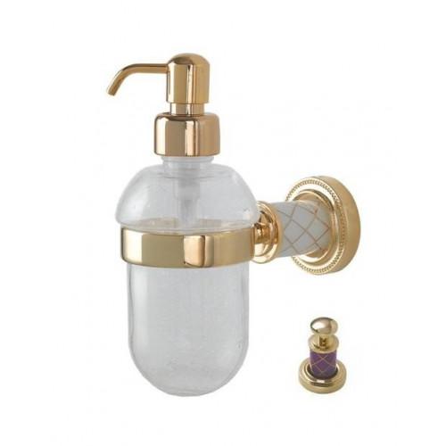 Диспенсер стекло настенный Boheme Murano золтой виолет 10912-V-G