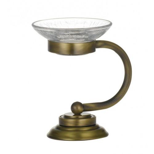 Настольная мыльница стекло Boheme Murano золтая 10910-W-G