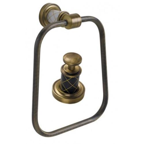 Держатель для полотенца кольцо Boheme Murano бронза с черным 10905-B-BR