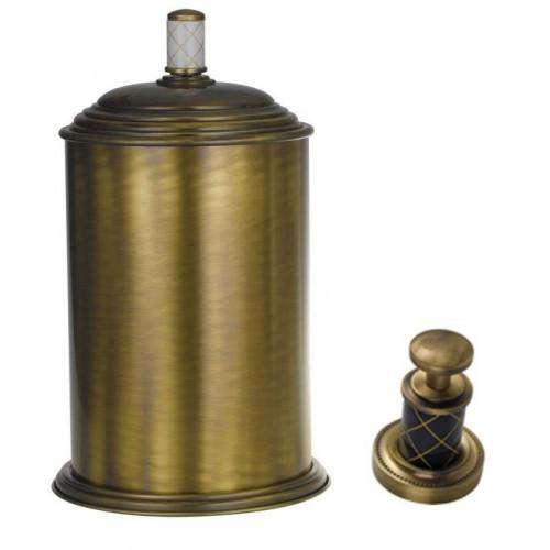 Ведро металл Boheme Murano бронза с белым 10907-W-BR