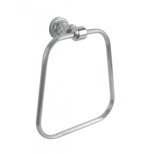 Держатель для полотенца кольцо Boheme Murano бронза с белым 10905-W-BR