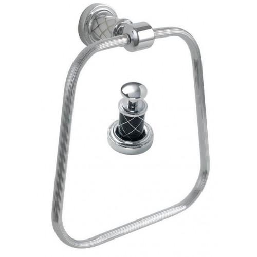 Держатель для полотенца кольцо Boheme Murano хром с черным 10905-B-CR