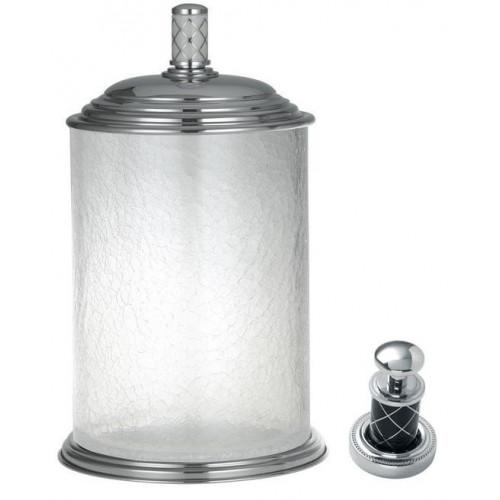 Ведро стекло Boheme Murano хром с черным 10914-B-CR