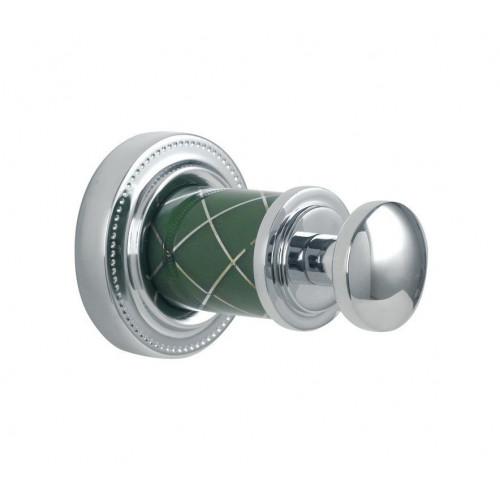 Крючок одинарный Boheme Murano хром с белым 10906-W-CR
