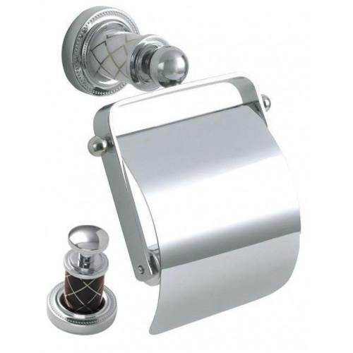 Держатель для туалетной бумаги с крышкой Boheme Murano хром шоколад 10901-CH-CR