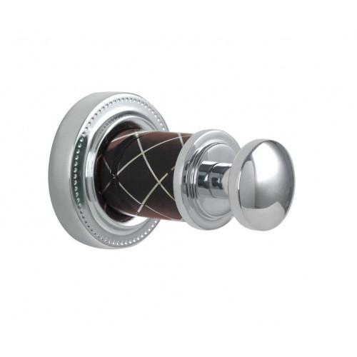 Крючок одинарный Boheme Murano хром шоколад 10906-CH-CR