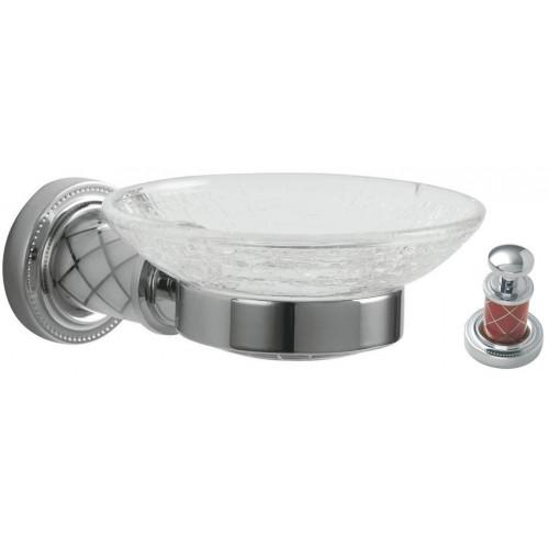 Мыльница настенная стекло Boheme Murano хром рубин 10903-R-CR