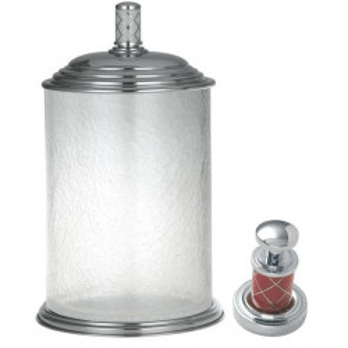 Ведро стекло Boheme Murano хром с белым 10914-W-CR