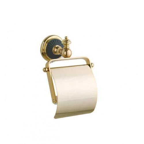 Держатель для туалетной бумаги с крышкой Boheme Palazzo Bianco золото с белым 10101