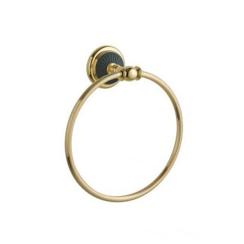Держатель для полотенца кольцо Boheme Boheme Palazzo Bianco золото с белым 10105