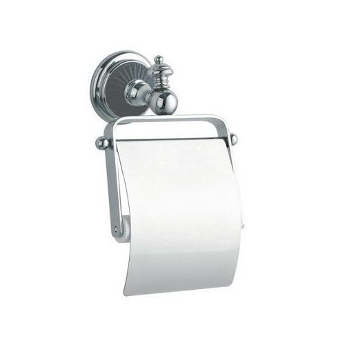 Держатель для туалетной бумаги с крышкой Boheme Palazzo Nero золото с черным 10151