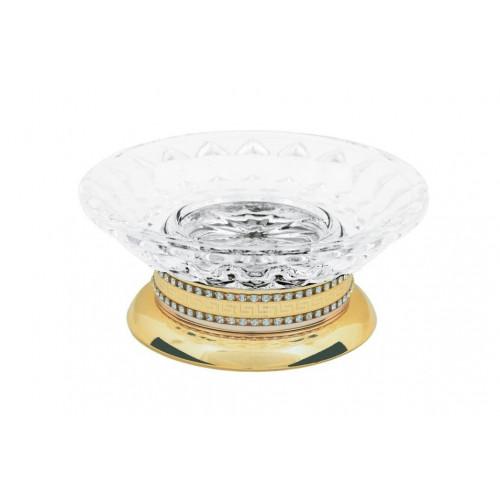 Настольная мыльница стекло Boheme Murano золтая 10910-G