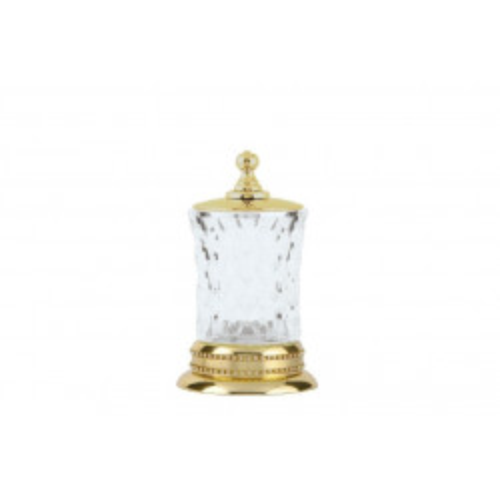 Настольный стакан для ватных дисков стекло Boheme Imperiale золото 10415