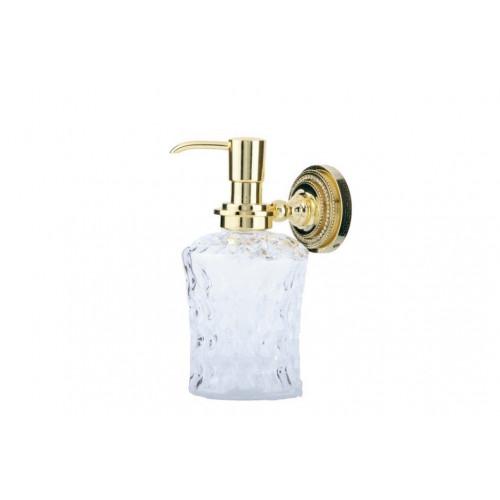 Диспенсер стекло настенный Boheme Murano золтой с белым 10912-W-G