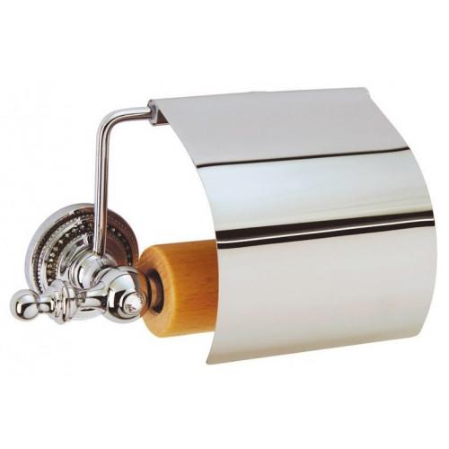 Держатель для туалетной бумаги с крышкой Boheme Imperiale золто 10401