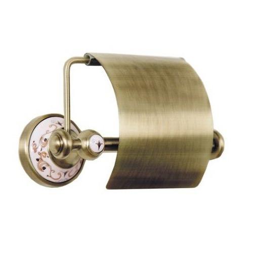 Держатель для туалетной бумаги с крышкой Boheme Medici бронза 10601