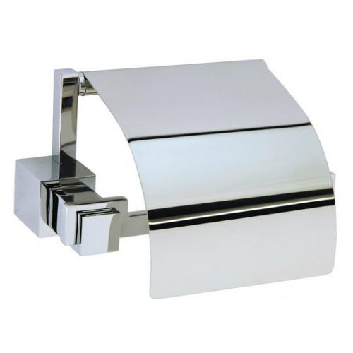 Держатель для туалетной бумаги с крышкой Boheme Brillante хром 10430