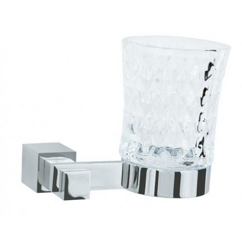 Стакан для зубных щеток стекло настенный Boheme Venturo хром 10304