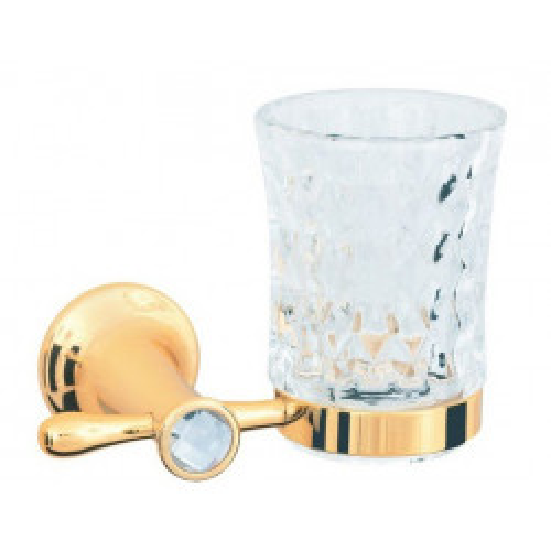 Стакан для зубных щеток стекло настенный Boheme Imperiale золто 10404