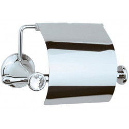 Держатель для туалетной бумаги с крышкой Boheme Puro хром 10701
