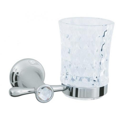 Стакан для зубных щеток стекло настенный Boheme Chiaro золто 10504