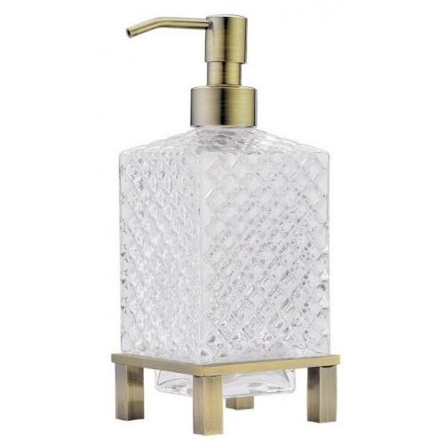 Дозатор для жидкого мыла круглый настольный Boheme бронза 10221