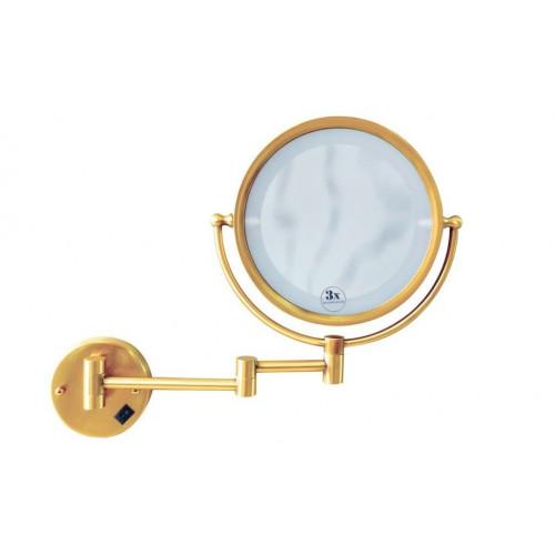 Зекало косметическое настенное Boheme Imperiale золото двухсторонее 503