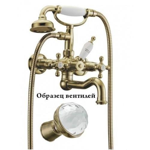 Смеситель для ванны Boheme Medici Presente бронза Swarovski 313SW