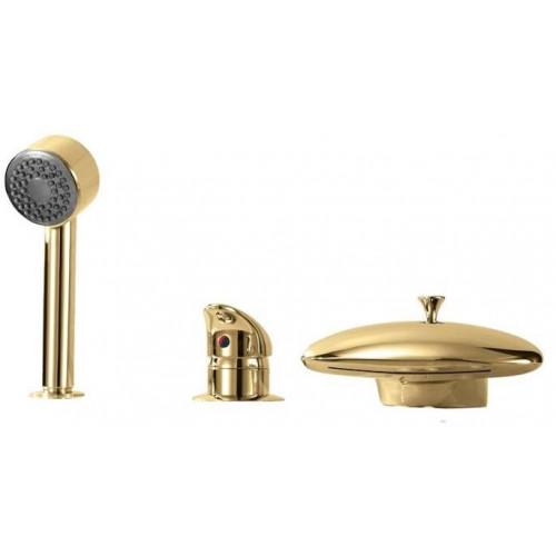Смеситель для акриловой ванны врезной Boheme Niagara бронза 397
