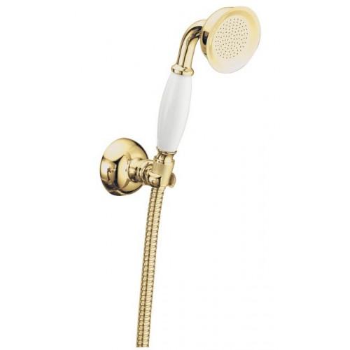 Душевой набор Boheme Imperiale золото 408 лейка с держателем и шлангом.