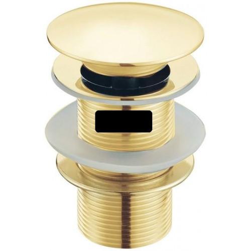 Водослив для умывальника click/clack 5/4 цельнометаллический Boheme Imperiale золото 611/2