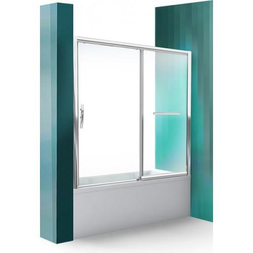 Шторка на ванну 150 см, двухстворчатая раздвижная, правая, PXV2P, Roltechnik