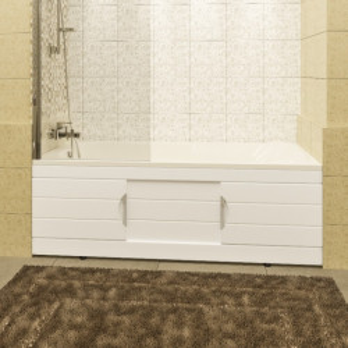 Экран под ванну 150 см, раздвижной, белый, Родос, СанТа