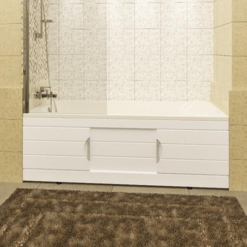 Экран под ванну 170 см, раздвижной, белый, Родос, СанТа