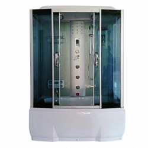Душевая кабина 150x80 прямоугольная, тонированное стекло, Dunay, River