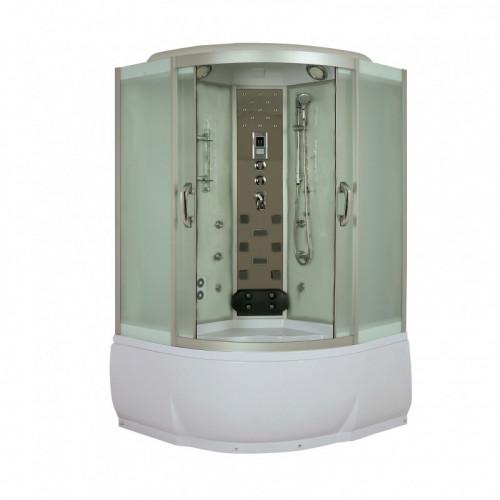 Душевая кабина 150x150 полукруглая, тонированное стекло, Temza, River