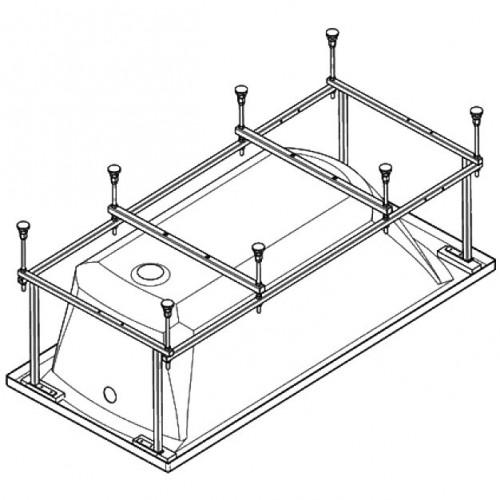 Каркас для прямоугольной ванны 150см Patio