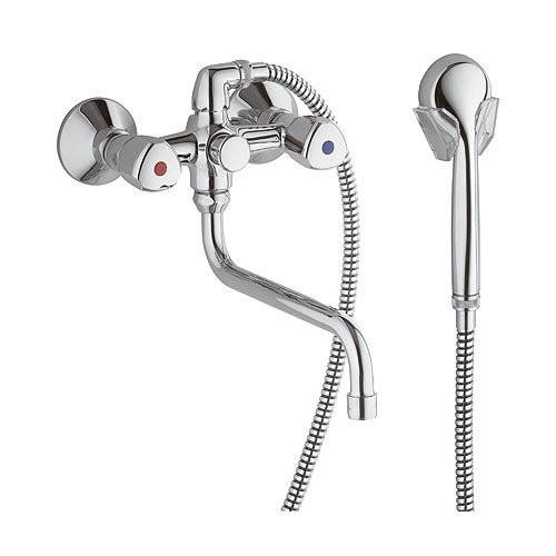 Смеситель для ванны Standart, излив 300мм, с аксессуарами Kludi 251230515
