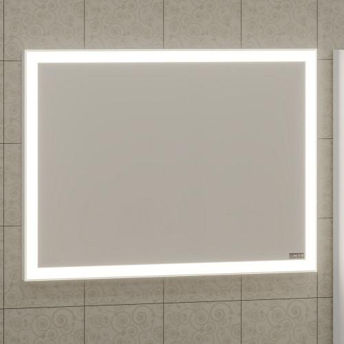"""Зеркало с подсветкой LED и инфракрасным выключателем """"Марс"""" 90x75 СанТа"""