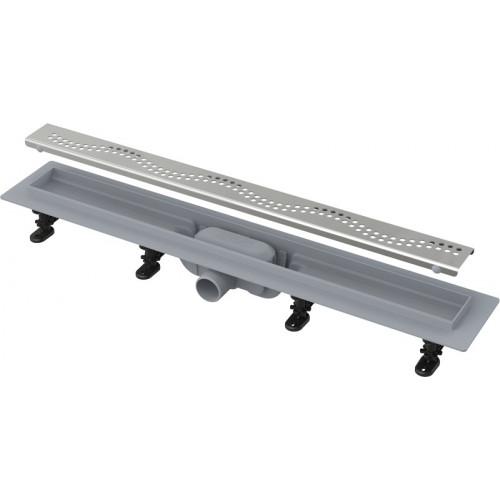 Водоотводящий желоб Alca Plast APZ8 SIMPLE 550 мм с порогами для перфорированной решетки