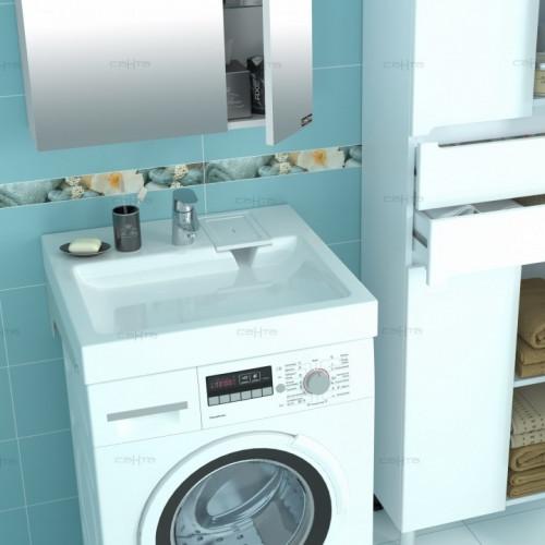 Раковина над стиральной машиной СанТа Лидер 600/80/590 с кронштейнами