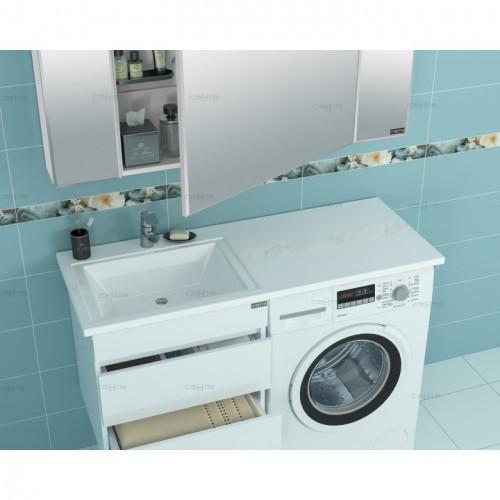 """Умывальник над стиральной машиной """"Лидер 1000*482""""  левый, без кронштейнов СанТа"""