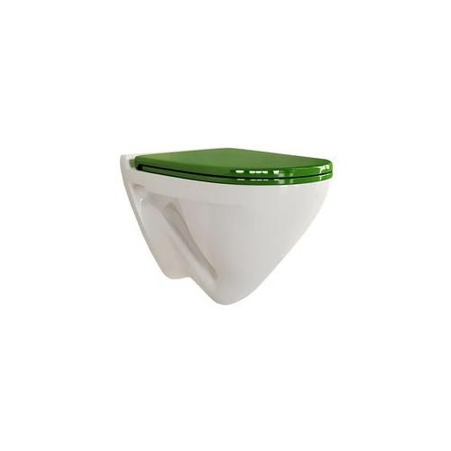 ATTICA LUX Green Унитаз-подвесной сиденье дюропласт Soft close Sanita Lux ATCSLWH0113
