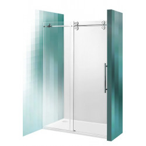 Душевая дверь 180 см, 2-x секционная сдвижная, Kinedoor Line, профиль хром, Roltechnik